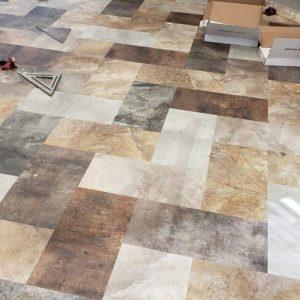 BeauFlor Pure LVT Installation in a wet area for a Valley City North Dakota Salon