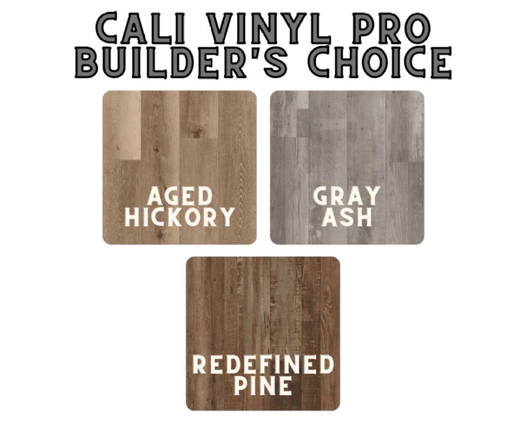 Cali Vinyl Pro Builders Choice colors