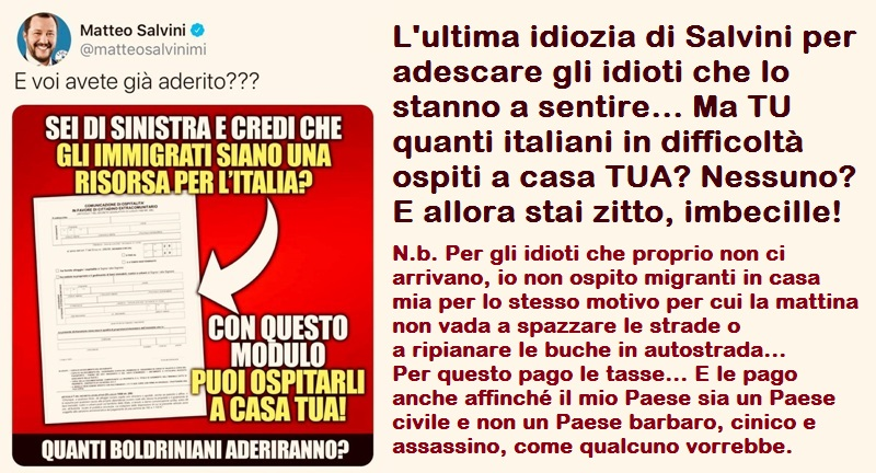 idiozia di Salvini