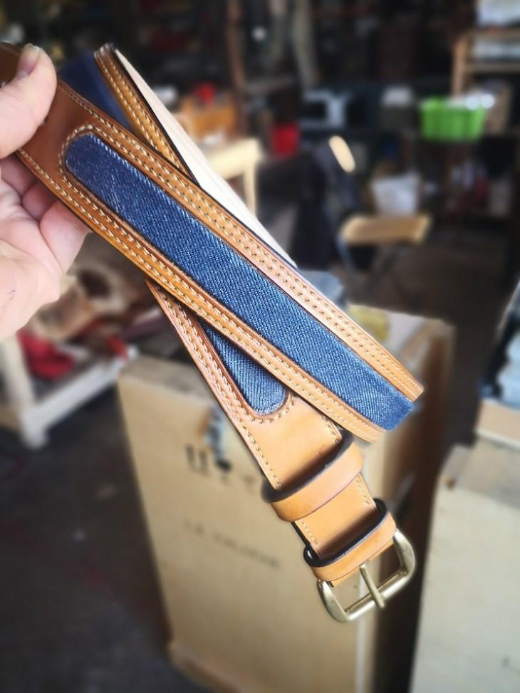 ceinture avec insert en jean's