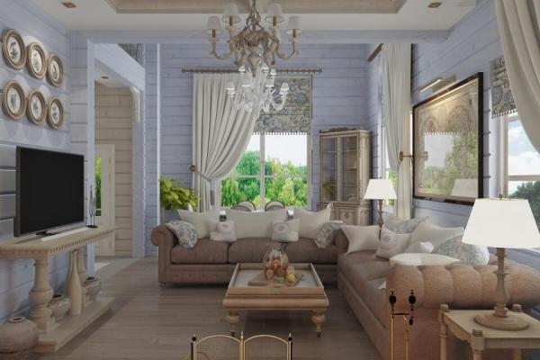 Стиль Прованс в интерьере загородного дома на фото ...
