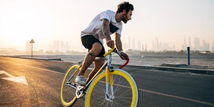 Man on Bike Lavanda Michelle