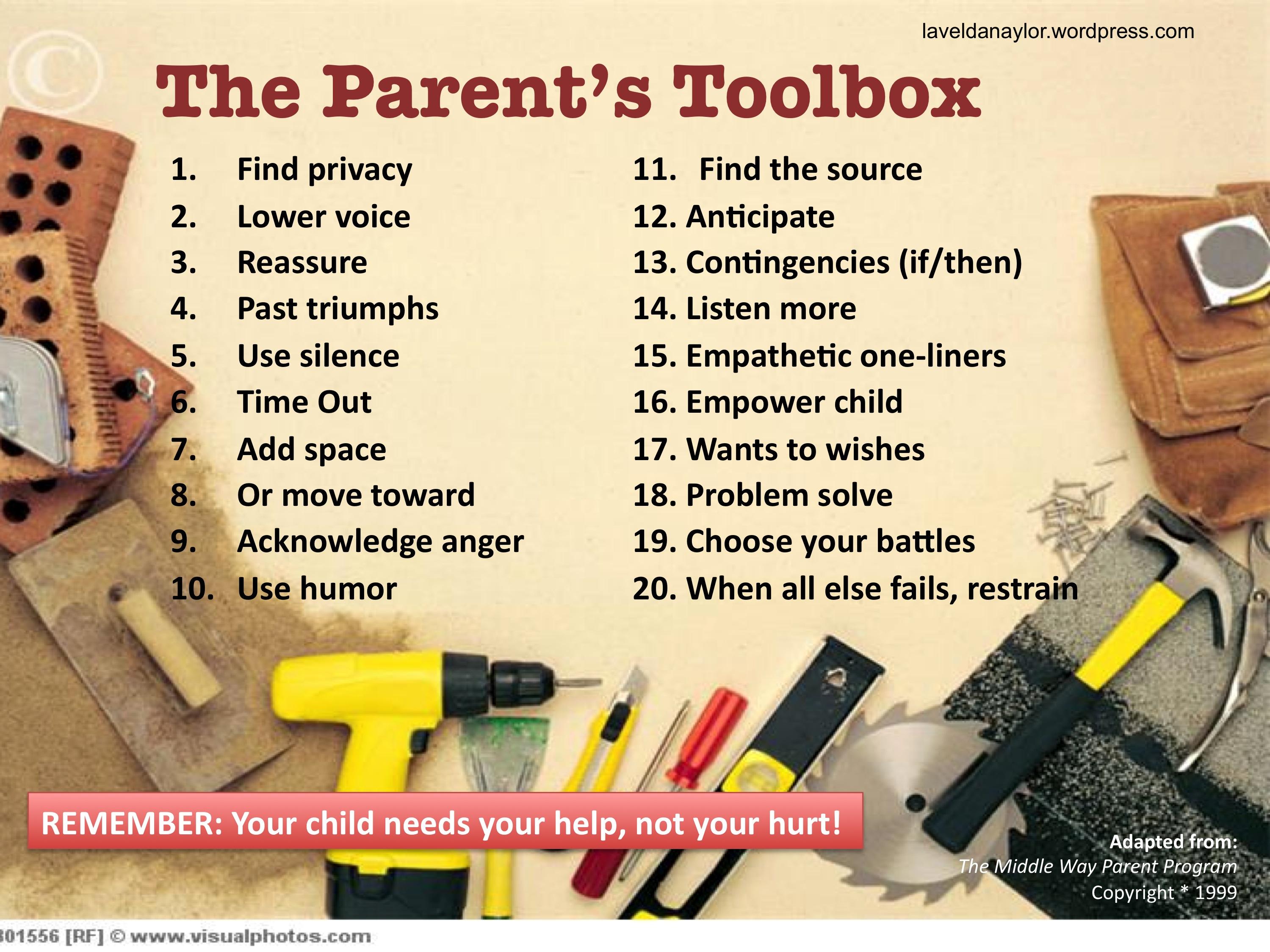 A Parenting Toolbox