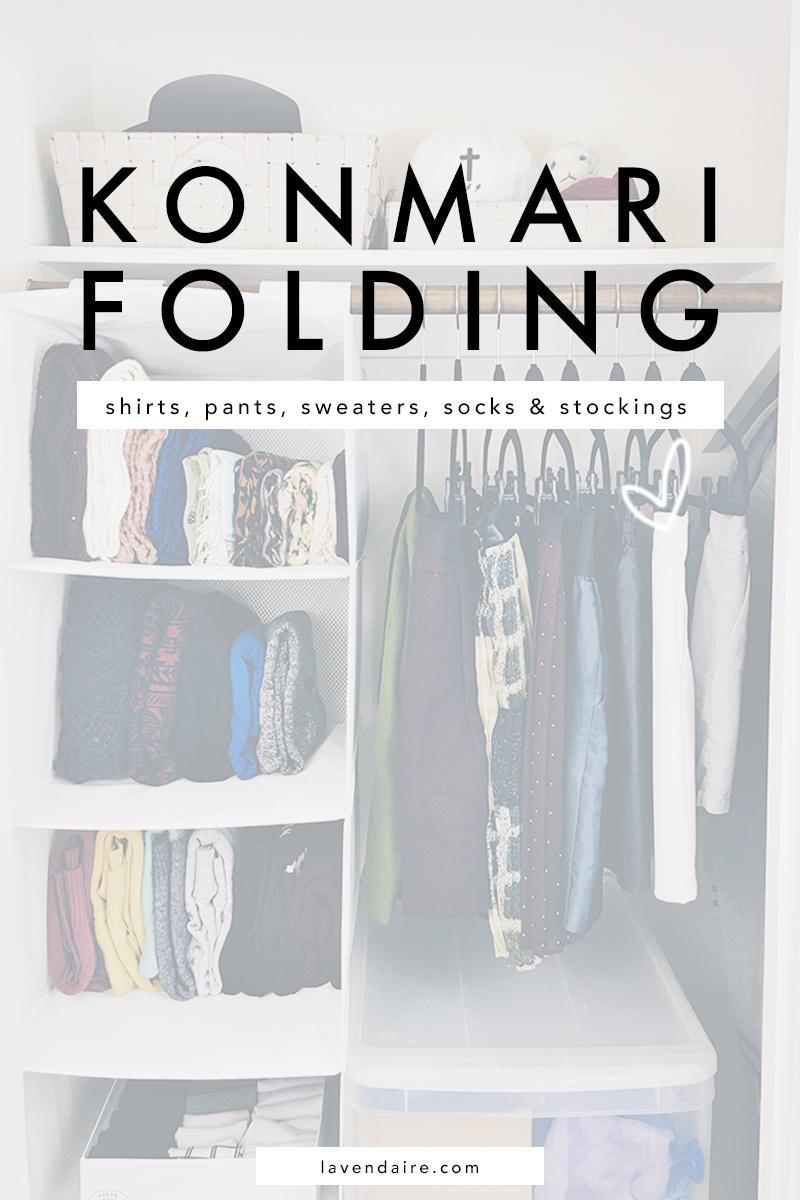 How To Fold Konmari Method Lavendaire