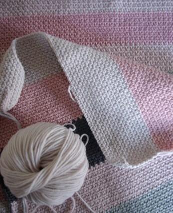 moss stitch cushion