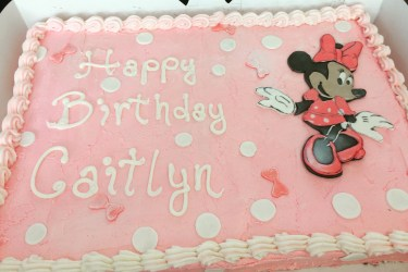 Allergy Friendly Minnie Cake