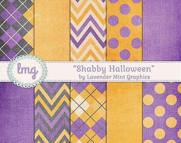 Halloween Digital Scrapbook Paper