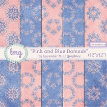 Damask Digital Scrapbook Paper