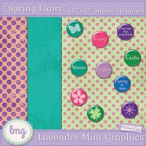 Digital scrapbook flairs and papers