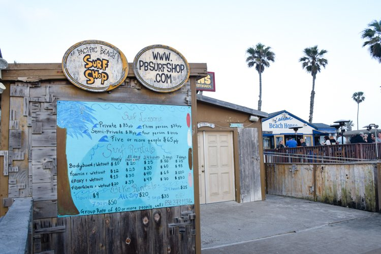San Diego Bucket List - Pacific Beach Surf Shop