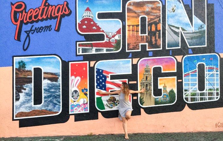 Greetings From San Diego Mural   San Diego Instagram Spots Part 98