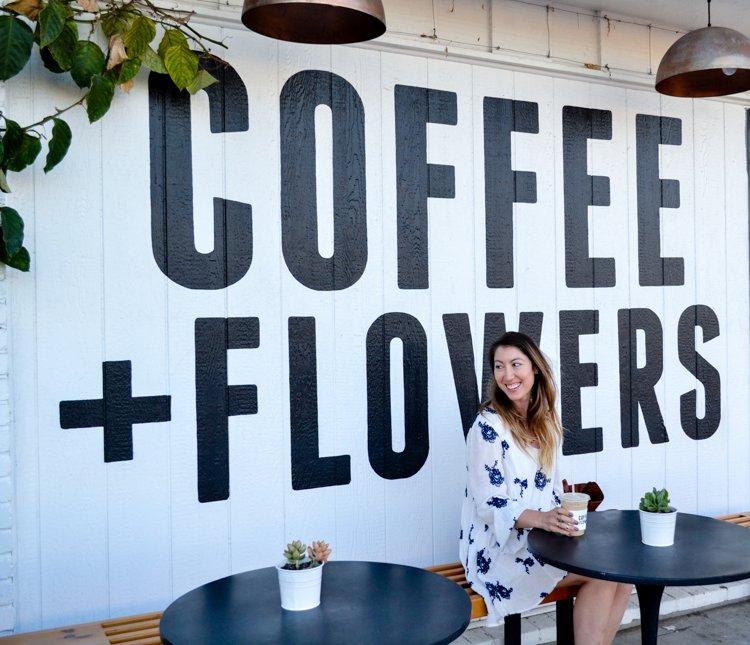 Coffee and Flowers - San Diego Instagram Spots