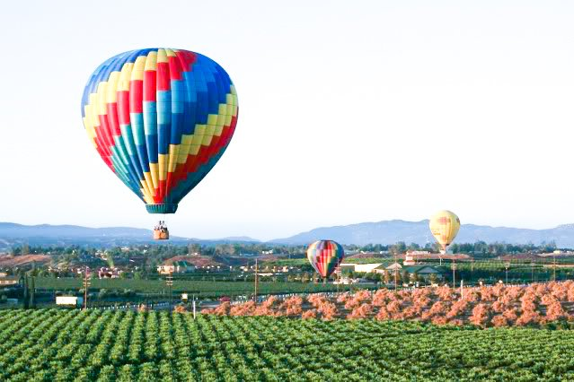 San Diego Bucket List - Temecula Hot Air Balloon