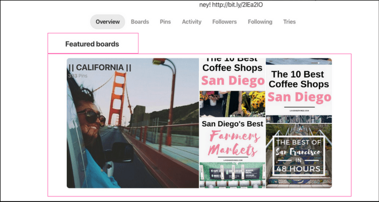 Increase blog traffic with Pinterest - Pinterest Feature Board