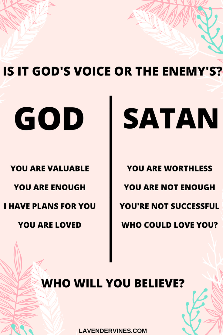 How to hear from God - Is it God's voice or the enemy's?