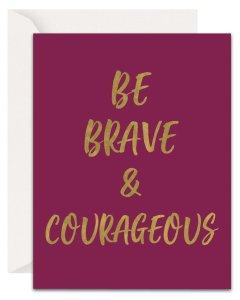 Christian Encouragement Cards - Lavender Vines - Be Brave