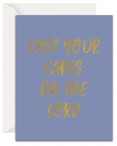 Christian Encouragement Cards - Lavender Vines - Cast Your Cares