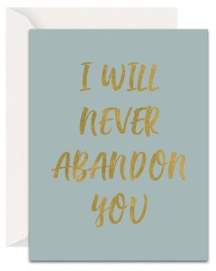 Christian Encouragement Cards - Lavender Vines - Never Abandon