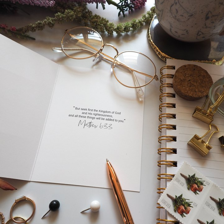 Christian encouragement cards - Lavender Vines
