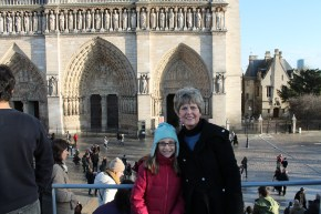 Grandma and Elizabeth on an outing to Notre Dame...and ice cream!
