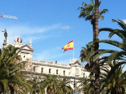 The only Spanish flag I saw