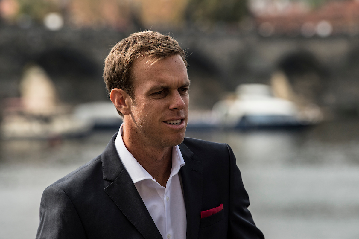 Team World player Sam Querrey at the Player Welcome Ceremony in Prague. Photo: Ben Solomon/Laver Cup