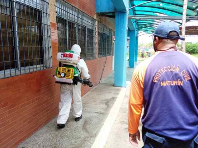 34 mil 100 desinfecciones ha realizado proteccion civil del municipio maturin 1
