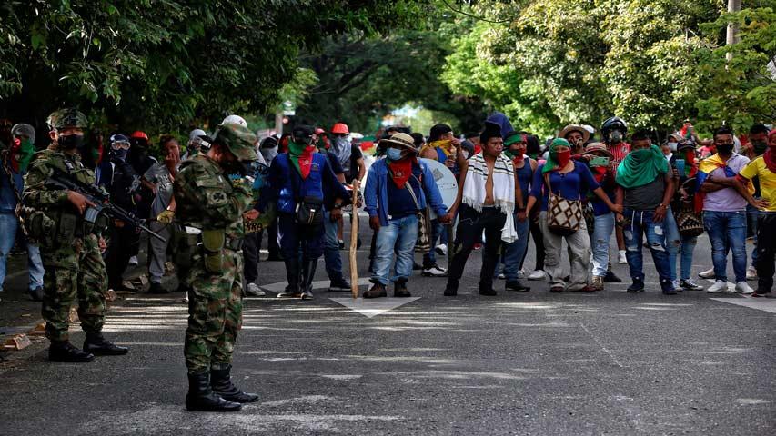 levantan bloqueo y abren corredor humanitario en cali 2