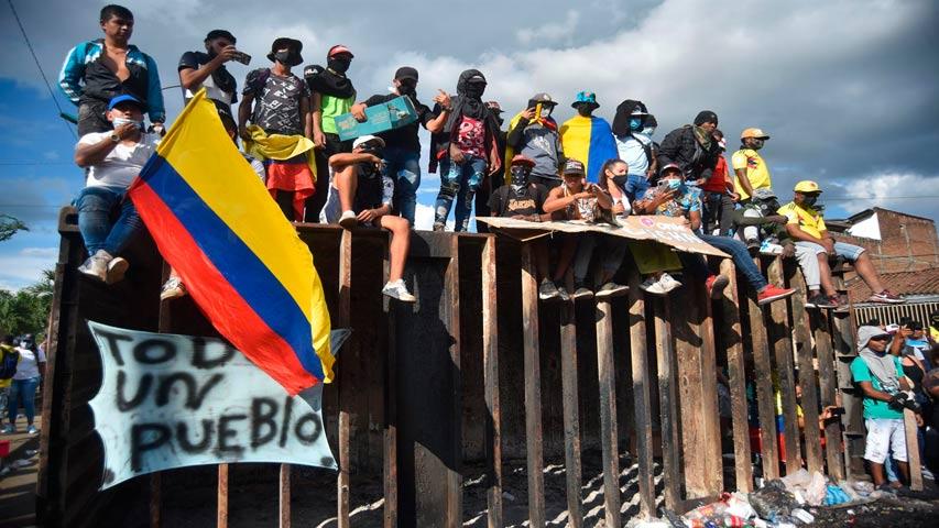 levantan bloqueo y abren corredor humanitario en cali 3