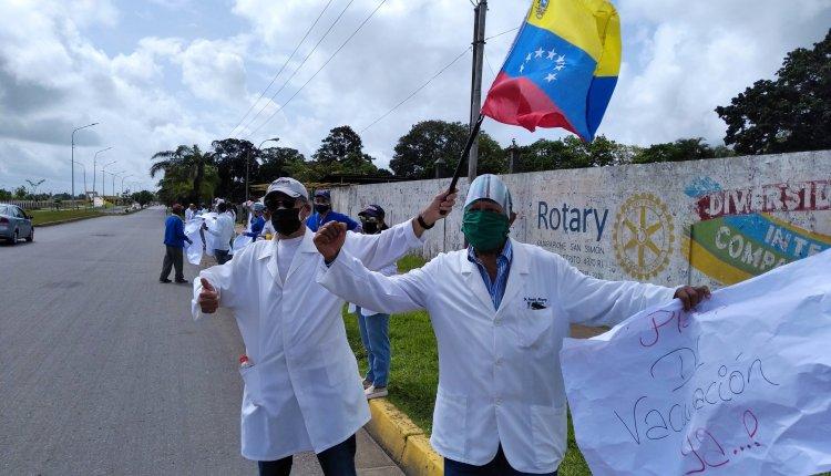 Los médicos del estado Monagas, salieron a protestar para exigir mejoras en sus lugares de trabajos e implementos de bioseguridad