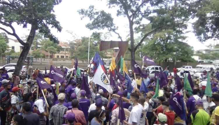 La militancia del partido Cambiemos estuvo presente.