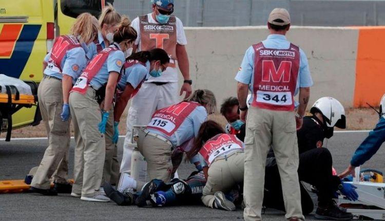Dean Berta Viñales accidente Circuito de Jerez