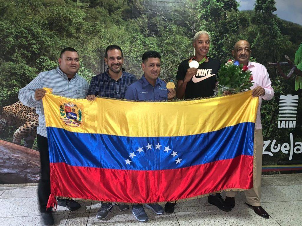 la campeona yulimar rojas llego a suelo venezolano laverdaddemonagas.com llego yulimar