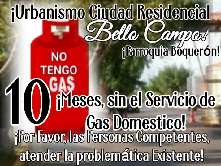 residentes de bello campo exigen el suministro de gas domestico laverdaddemonagas.com gas