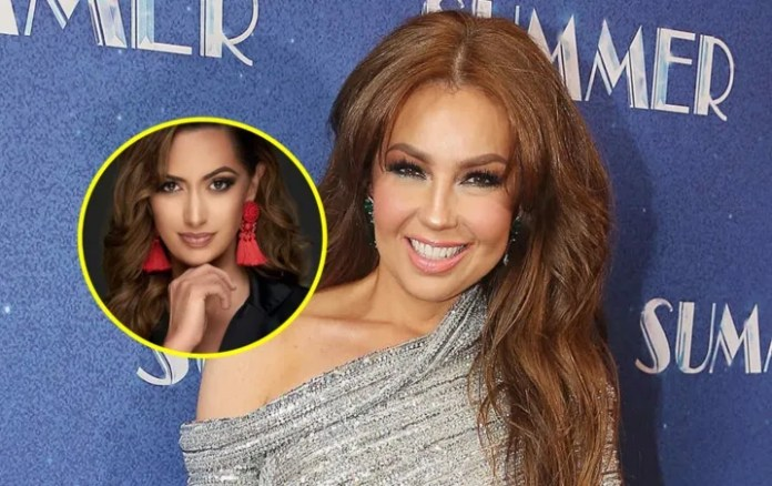 Thalia: Well it looks Paulina Sodi, the niece of the singer, What a beauty!