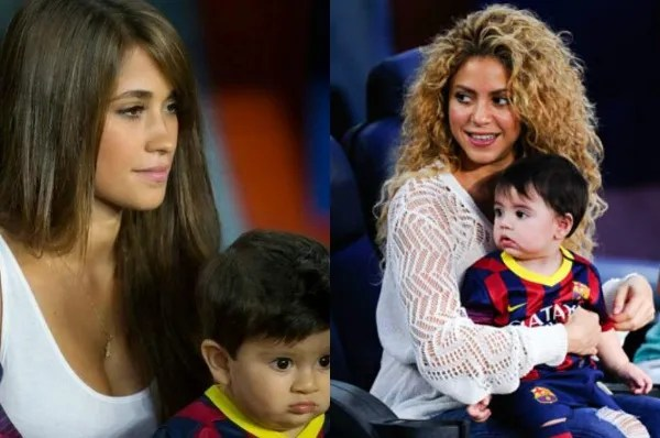 Antonella Roccuzzo maintained a distance with the colombian.