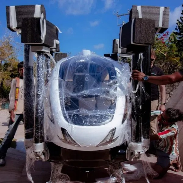 Nothing to take off the first passenger drone of Mexico in Tulum