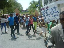 Marcha en Barahona