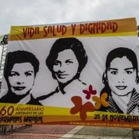 A 60 años del asesinato de las hermanas Mirabal mujeres exigen tolerancia cero