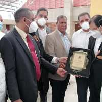 Cámara de Comercio Barahona se traslada a Santiago y reconoce al padre Secilio