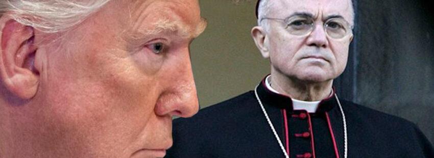 """Viganò a Trump: Papa Bergoglio Appoggia l'Agenda Globalista di Satana """"che vuole soggiogare le masse e convincerle a farsi marchiare come capi di bestiame"""""""