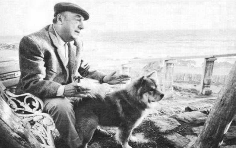 Pablo Neruda e il suo cane Calbuco