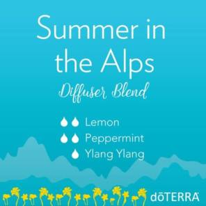 doTERRA-Essential-Oils-Summer-in-the-Alps-Diffuser-Blend ylang ylang