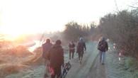 I Giorni della Merla si sono sentiti alla partenza della gara. Il gelo sceso su tutto il campo di cara ha resto la vita non