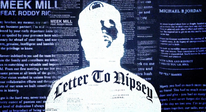 Meek Mill 'Letter to Nipsey' Lyrics Meaning Has Roddy Ricch Mourning Over Hussle