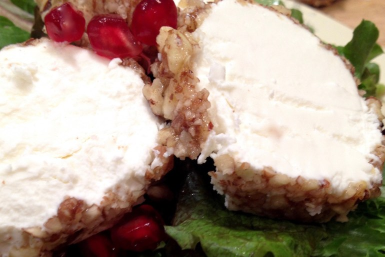 goat cheese log, holiday appetizer