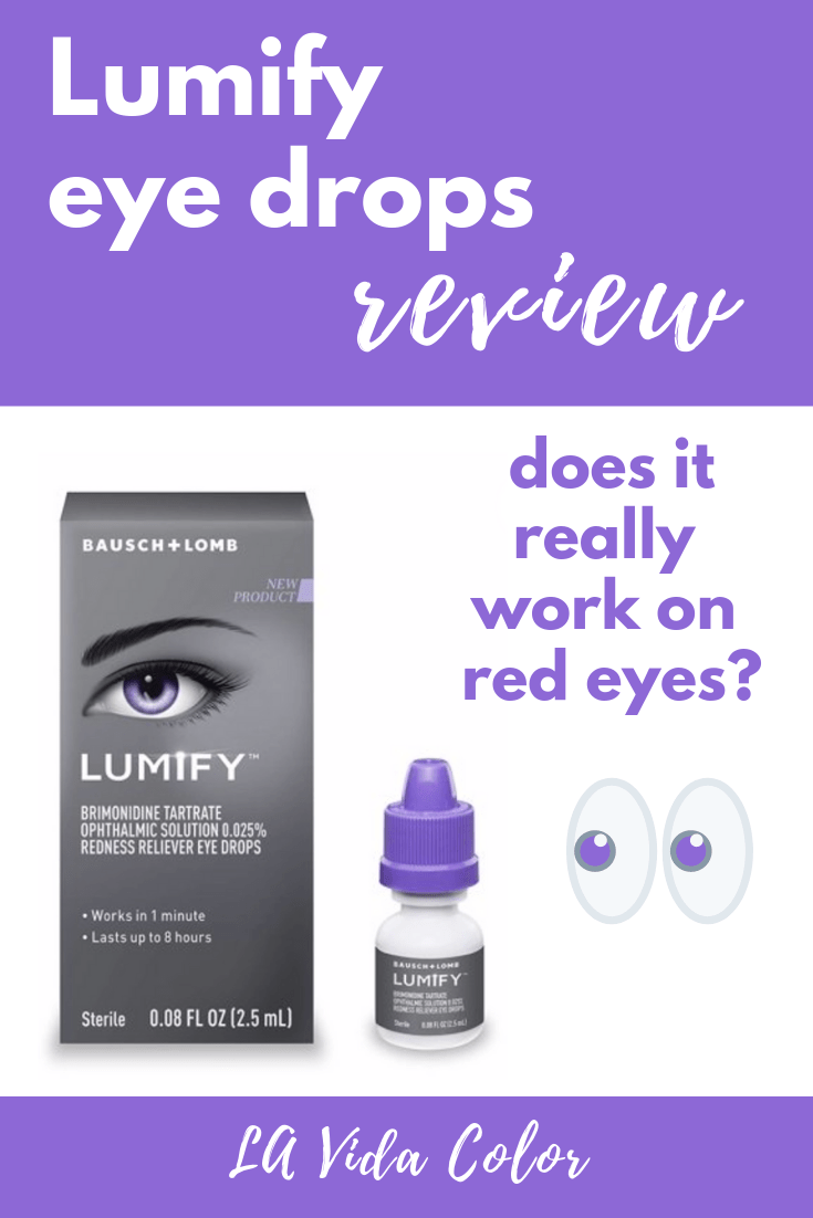 Want clearer, whiter eyes? Trying to get rid of red eyes? Don\'t miss this review! Check out my before and after photos of Lumify eye drops to see how effective they are! #lumify #eyehealth #redeyes #eyedrops