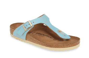 Gizeh Flip Flop by Birkenstock in sky blue leather
