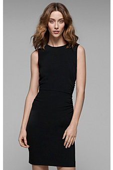 We love this dress because it's more slimming and would work great for those who are more straight and less curvy. It gives you form without looking too tight. Perfect!