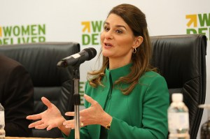 This piece avoids dealing with a collar by having a very intentional one that works more like a outerwear than a typical blazer. While it looks a bit more closed off than I think one would want to be, it does have a very commanding allure. The color is questionable but Melinda Gates is wearing it so that commands respect regardless.